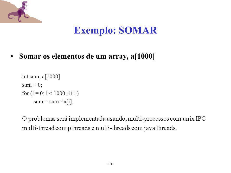 Exemplo: SOMAR Somar os elementos de um array, a[1000]